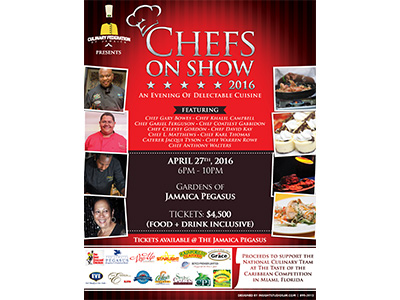 Chefs on Show 2016 Flyer