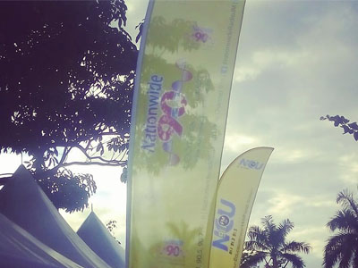 Feather Banner for Nationwide 90FM