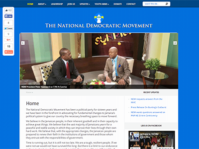 Website designed for The National Democratic Movement