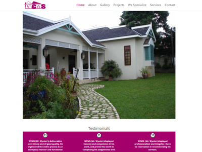 Website designed for WCMS Dream Builders